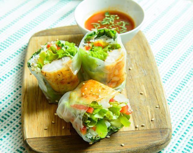 Vietnamese perch rolls