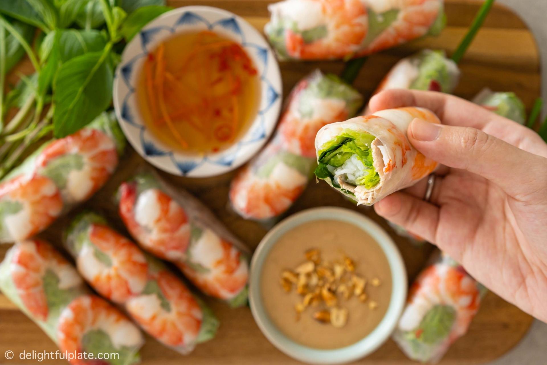 Recipe: Vietnamese perch summer rolls
