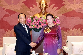 vietnams top legislator receives ambassadors of japan cambodia