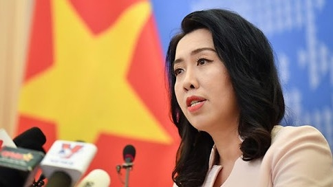 Vietnam opposes Chinese military drills in its territorial waters in the East Sea