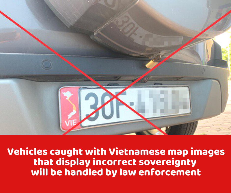 Vehicles caught with Vietnam's misleading map to be handled in line with regulations