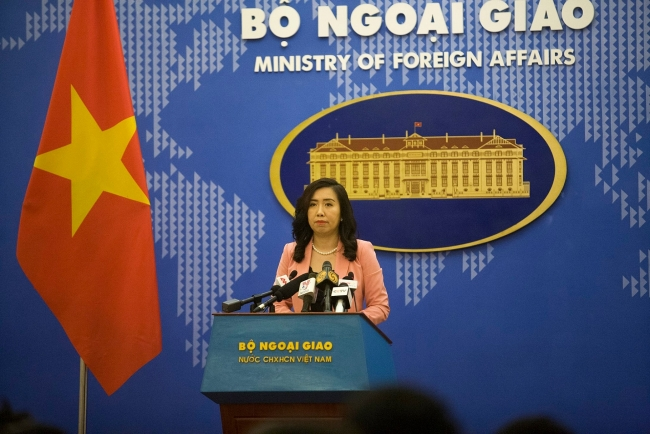 Spokesperson confirms Vietnam's stance in East Sea issue