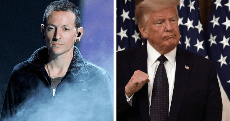 Trump tweet using Linkin Park