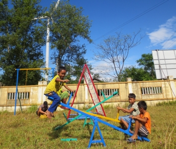 new playgrounds bring fun filled summer to mountainous kids in quang tri