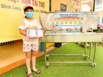 quang ngais district receives mobile handwashing systems to combat covid 19