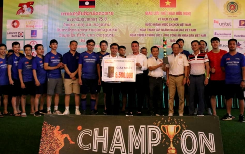 vietnam laos sport exchange programme held in vientiane