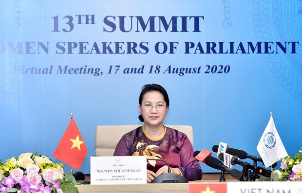NA Chairwoman Nguyen Thi Kim Ngan attends 13th summit of world's NA female heads hinh anh 1