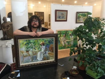 exhibition honours russian painter tuman zhumabaev a friend of vietnam