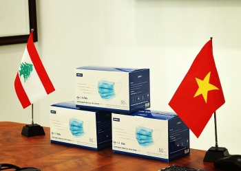 vietnam based charity donates 10000 masks and gloves to hospital in beirut
