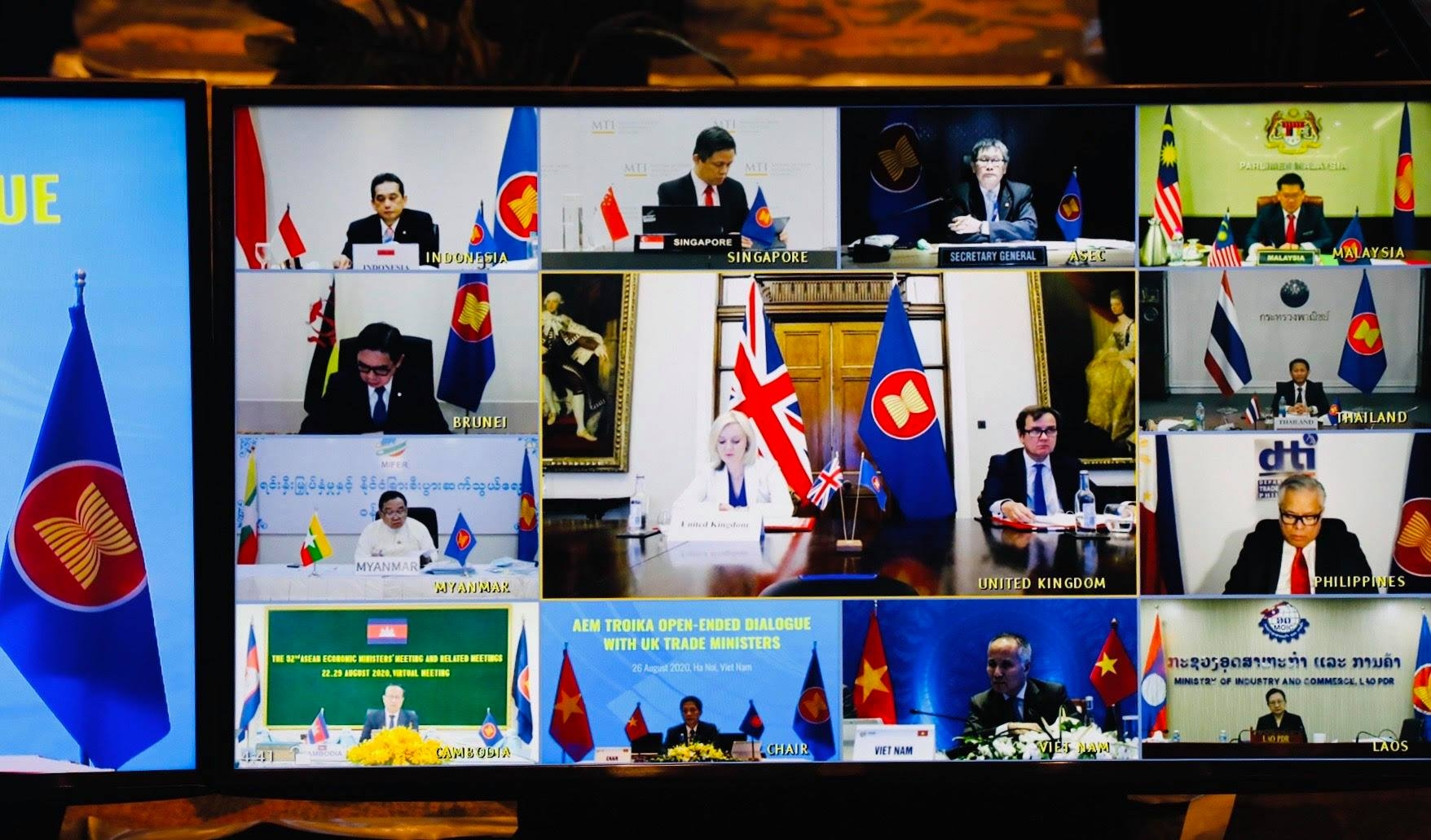 ASEAN, UK hold Economic Dialogue prioritising economic recovery post COVID-19