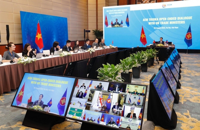 ASEAN, UK hold Economic Dialogue prioritising economic recovery post-COVID-19