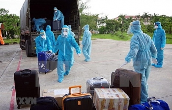 nearly 350 returnees from over 20 countries immediately quarantined