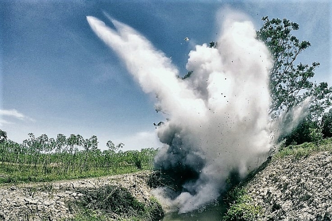 UXO's hundreds of explosive ordnance have been safely destroyed in Quang Tri