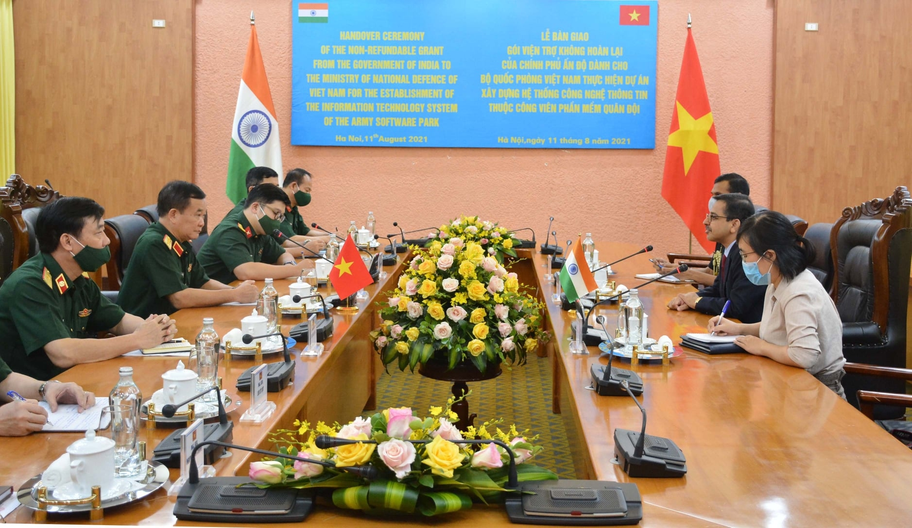 India supports Vietnamese defense ministry with USD 1 million to build IT system