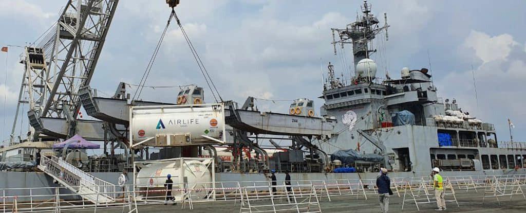 INS Airavat Arrives In Vietnam With 100 Tonne of Liquid Oxygen