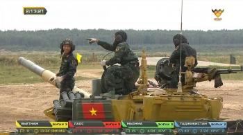 Army Games 2020: Vietnam team ranks first in Tank Biathlon's group 2