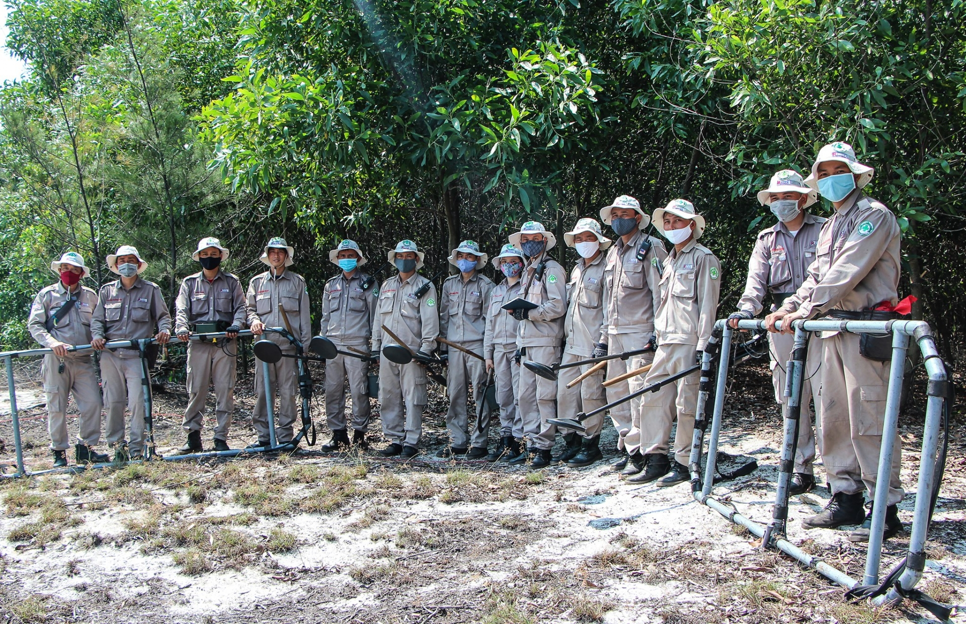 Returning to landmines clearance amid fall in new COVID 19 cases