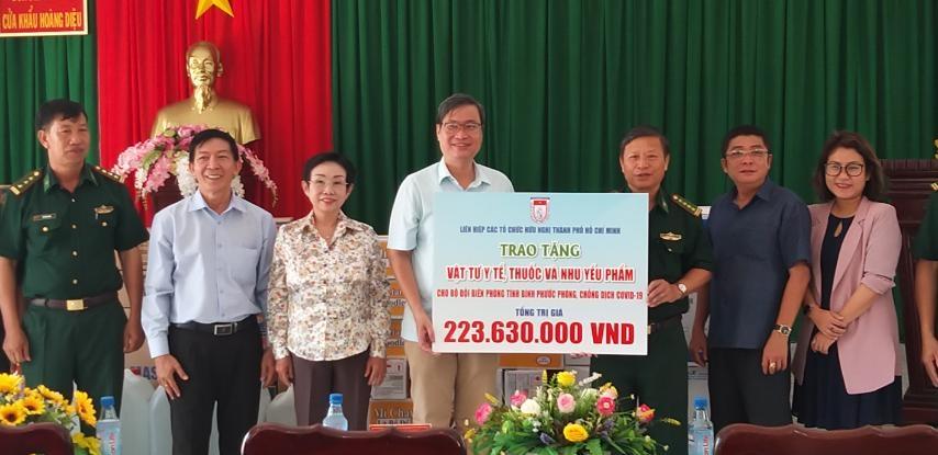 HUFO's COVID 19 aid reaches Binh Phuoc's border guard forces