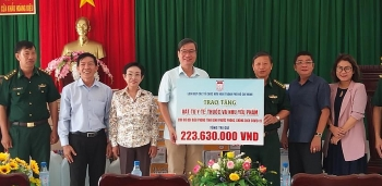 hufos covid 19 aid reaches binh phuocs border guard forces