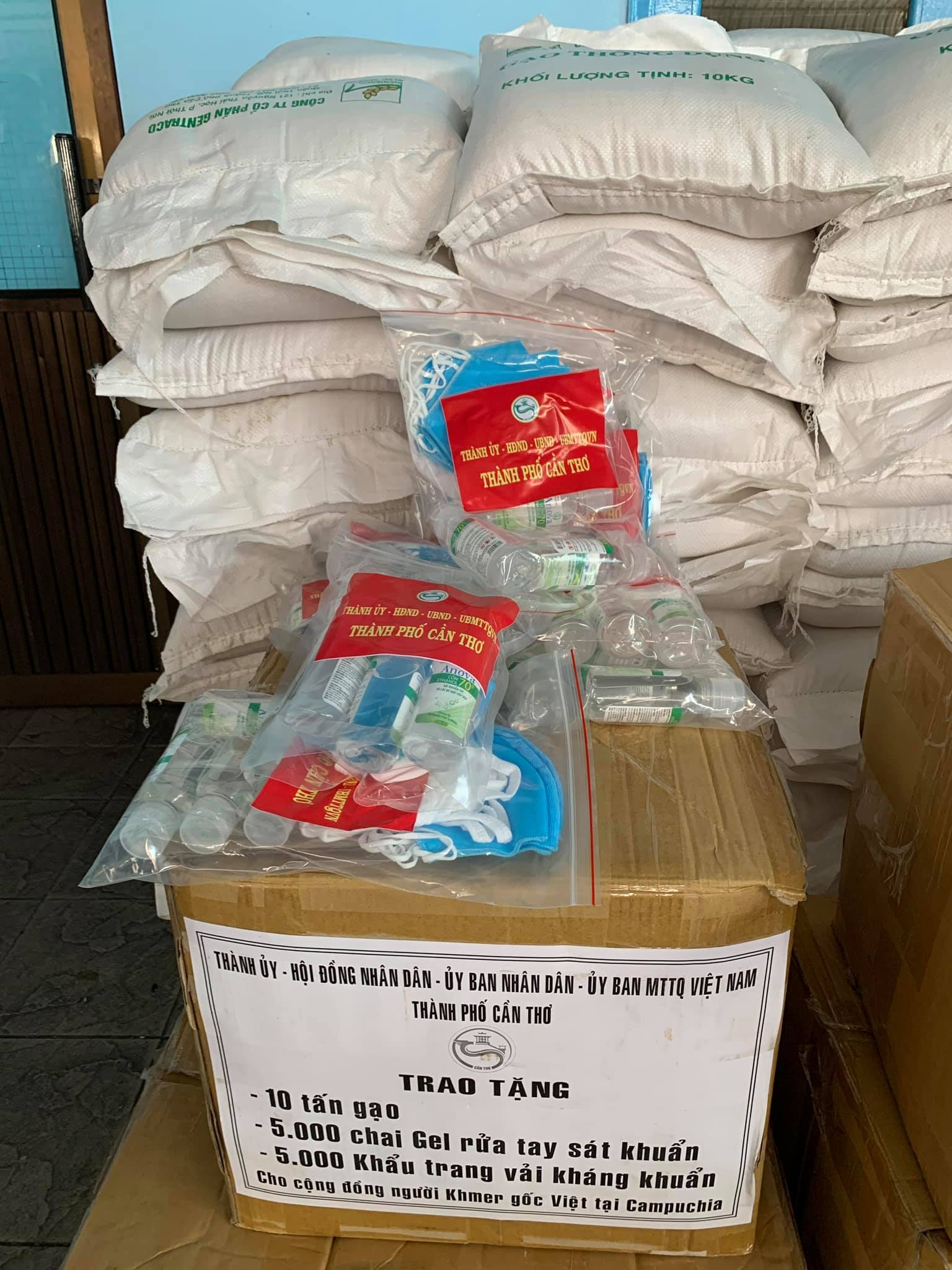 Relief delivered to COVID 19-hit Vietnamese Cambodians