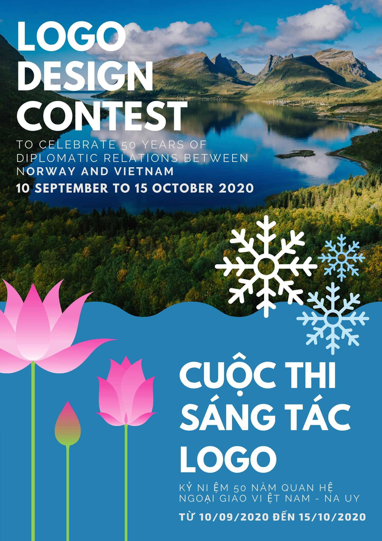 Logo design contest marking Vietnam Norway 50 years of diplomatic ties launched