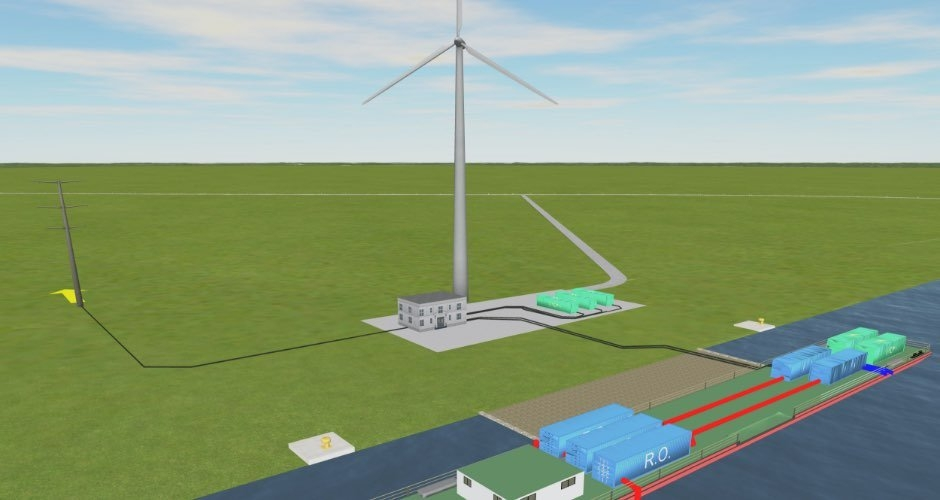 Belgian government funded wind powered desalination project in ninh thuan
