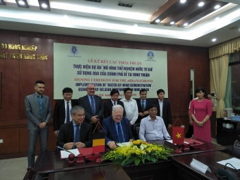 Belgian government-funded wind powered desalination project in Ninh Thuan