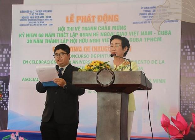 painting contest marks vietnam cuba ties for children across hcmc