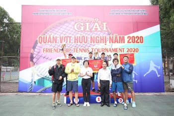 nearly 100 athletes join 2020 friendship tennis tournament in hanoi