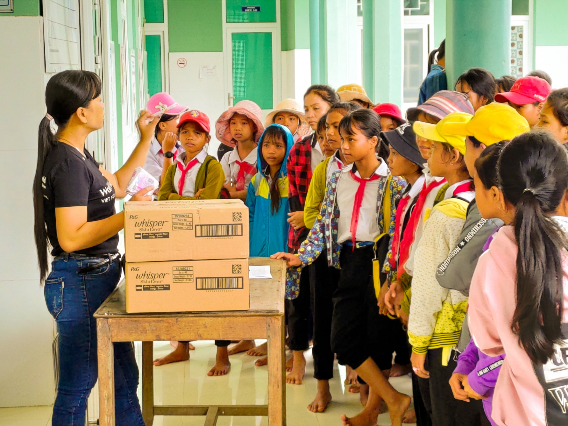 Over 320,000 sanitary packets delivered to 16,000 adolescent girls in need