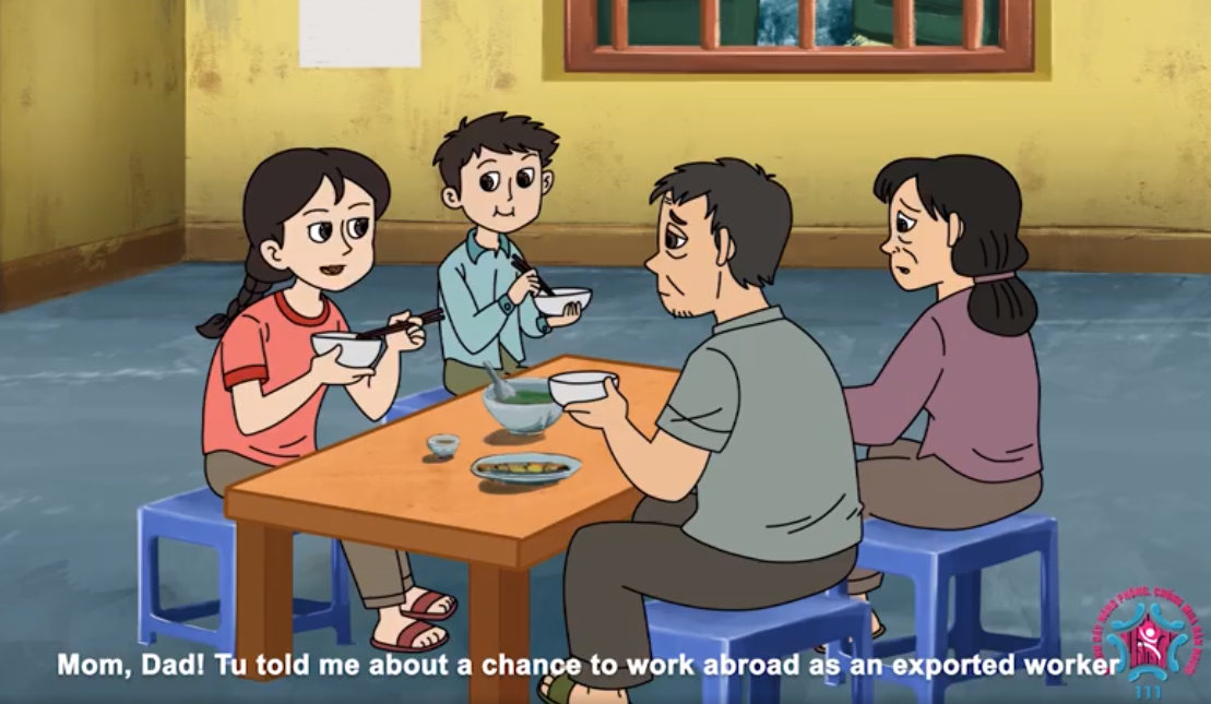 Vietnam uses cartoon to increase awareness and prevention of human trafficking