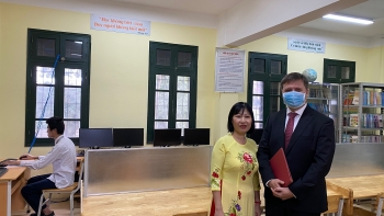 polish embassy supports hanois high school with computer donation