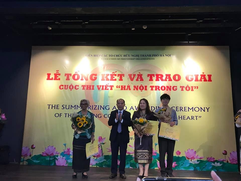 """Contestant from Palestine won first prize of writing contest """"Hanoi in my heart"""""""