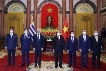 Vietnamese Leaders Meet Ambassadors of The UK, Uruguay, Finland And Austria