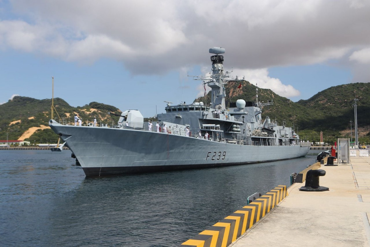 British Royal Navy ship HMS Richmond Arrives Vietnam