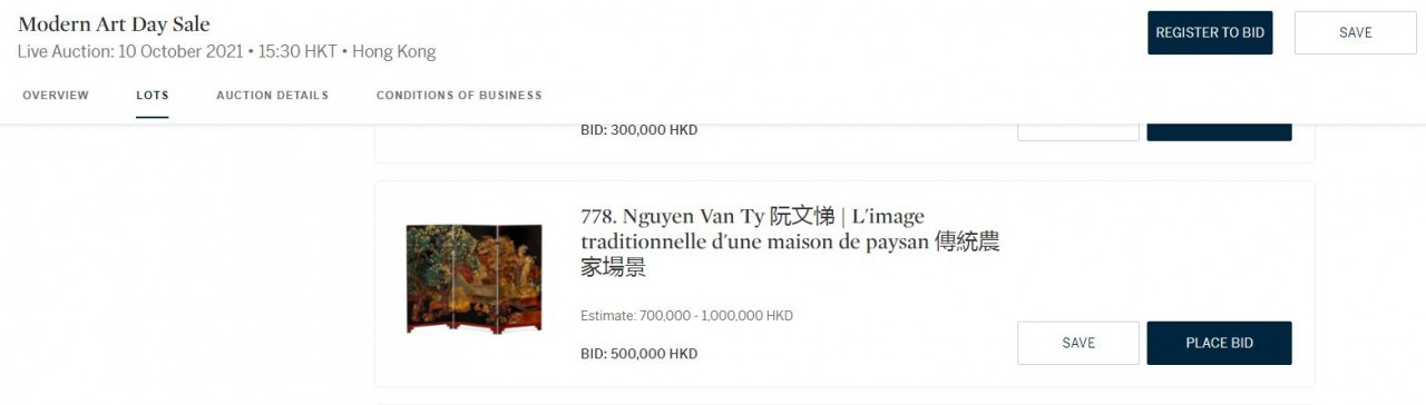 Family of late Vietnamese painter accuses Hong Kong auction house selling fake painting
