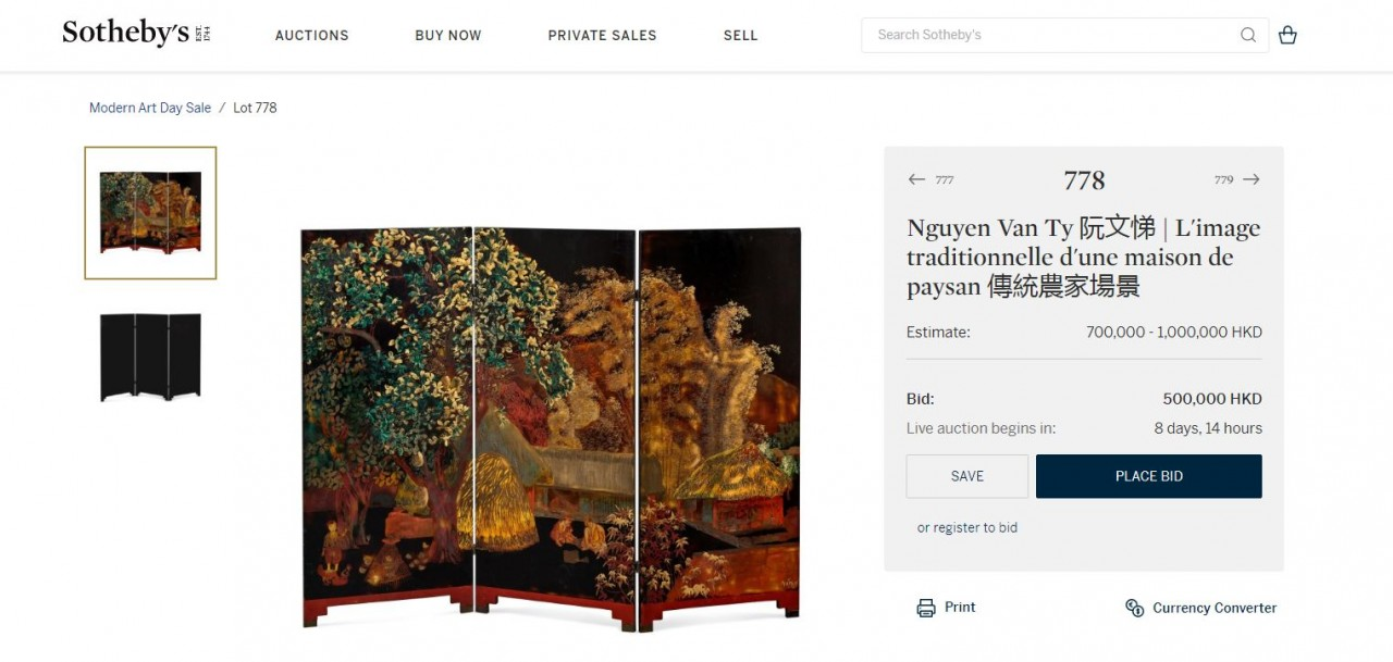 Hong Kong Auction House Removes 'Fake' Vietnamese Painting from Upcoming Auction