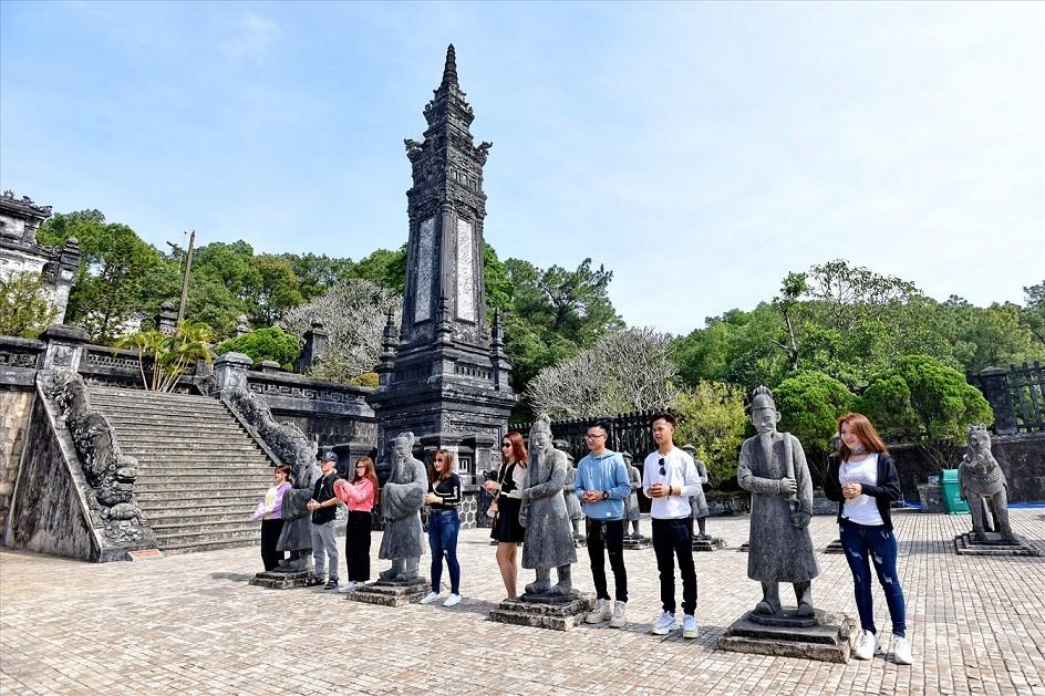 Rare Photos of Khai Dinh Imperial Tomb Construction