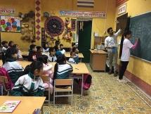 over 20 israeli volunteers renovate schools teach english to sa pas children