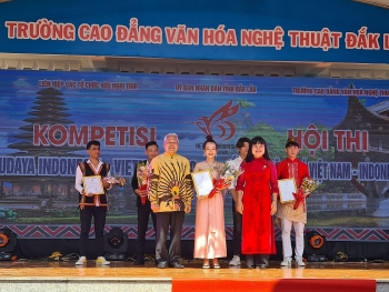 vietnam indonesia cultural contest held in central highland city
