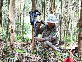 mapping risk of uxo at a luoi district thua thien hue province