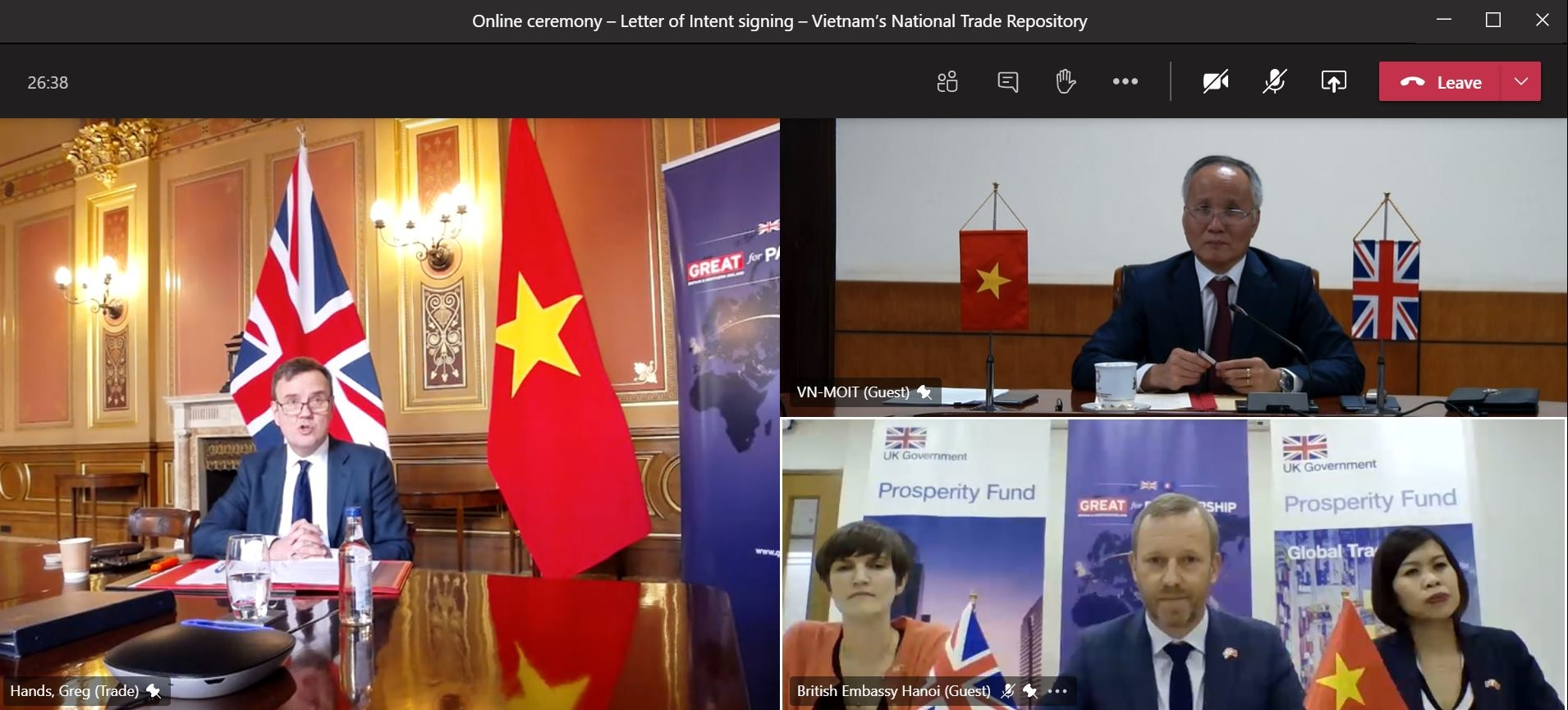 UK supports vietnam developing national trade repository