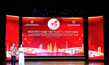 friendship night of vietnam and indonesia marks 65 years ties