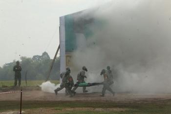 Vietnam, Cambodia hold land border search, rescue drill