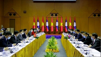 vietnam laos hold seventh annual foreign ministerial level political consultation