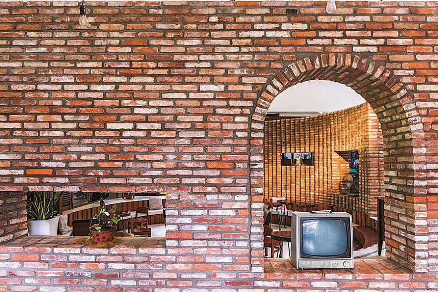 impressive cafe from shabby bricks emerges in southern of vietnam