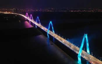 interesting bridges spanning the red river in hanoi