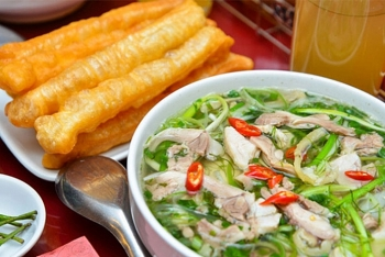 pho and fried dough sticks a strange yet exciting match