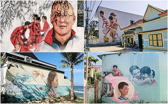 central coastal tam thanh village inveigles passer by with its colorful street art