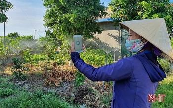 ha tinh farmer takes advantage of technology into irrigation works